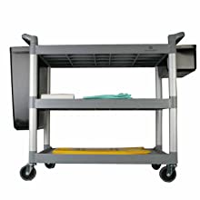 Excellante 40-1/2-Inch by 19-3/4-Inch by 37-7/8-Inch, 3-Tier Bus Cart, Grey