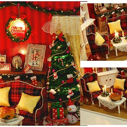 dollhouse miniature diy kit cover butterfly love secret sofa living room house for christmas gift