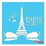 Paris Eiffel Tower Stencil - DIY & reusable (Medium- 12