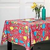 Chumbak Bartan Cotton Table Cloth - Multicolor