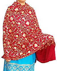 Beautiful flower embroidery Cashmilon shawl for women