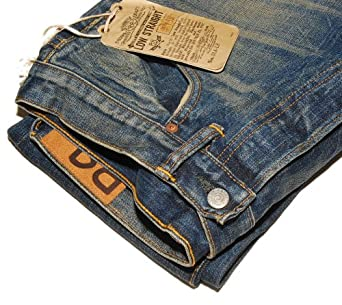 Polo Ralph Lauren RRL Mens Low Straight Rustic Jean Pants USA 33/34