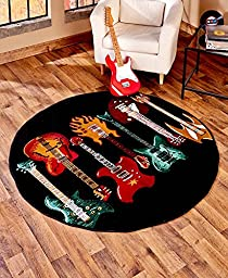 Modern Colorful Decorative Musical Guitar Rug Collection (59\