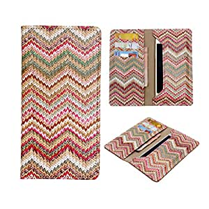 SkyAnk Pu Leather Wallet Pouch Case Cover For Micromax Canvas Juice 3 Q392