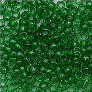 Toho Round Seed Beads 8/0 #7B 'Transparent Grass Green' 8 Gram Tube