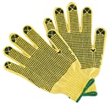 G and F 1670M Cut Resistant 100-Percent Kevlar Gloves with PVC Dots on Both Sides, Yellow, Medium, 1-Pair