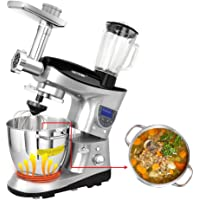 Cheftronic SM-1088 7.4QT 120V Heating Bowl Multifunction Kitchen Stand Mixer (Stainless Steel)