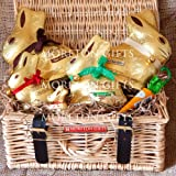Lindt Gold Bunny Family Hamper - Milk, White, Hazelnut, Bunnies & Carrot - By Moreton Gifts