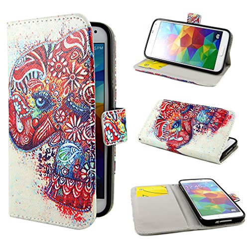 ivencase Painting Art Design Wallet PU Leather Stand Flip Case Cover For Samsung Galaxy S5 SV + One