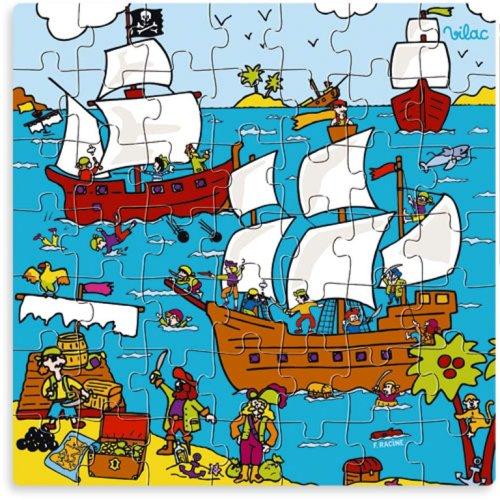 Vilac Puzzle pirate dans sa boîte forme