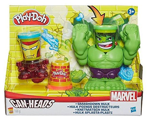 Play-Doh - Marvel, Figurina di Hulk Distruttore, con Testa a Lattina