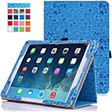 MoKo Apple iPad Air 2 (iPad 6) Case - Slim Folding Cover Case for Apple iPad Air 2 (iPad 6) 9.7 Inch iOS 8 Tablet, Cutie Charm BLUE