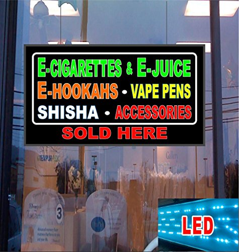 E-Cig Juice Hookahs Shisha Acces sold Here LED Light Up Sign (Wax Pen Dome compare prices)