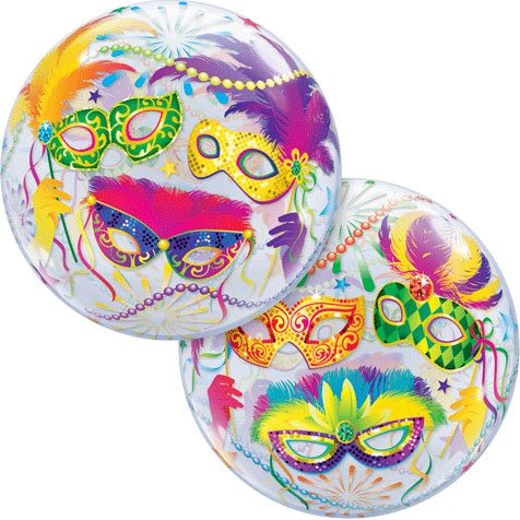 "22"" Masquerade Bubble Balloon"