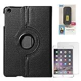 DMG Full 360 Rotating Cover Case For Apple Ipad Mini 3 (Black) + 6600 MAh PowerBank + Matte Screen