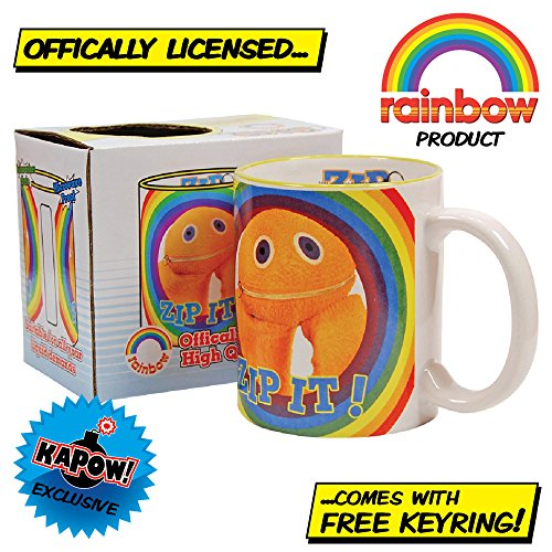 Offically Licensed Rainbow Zippy Mug with free keyring.