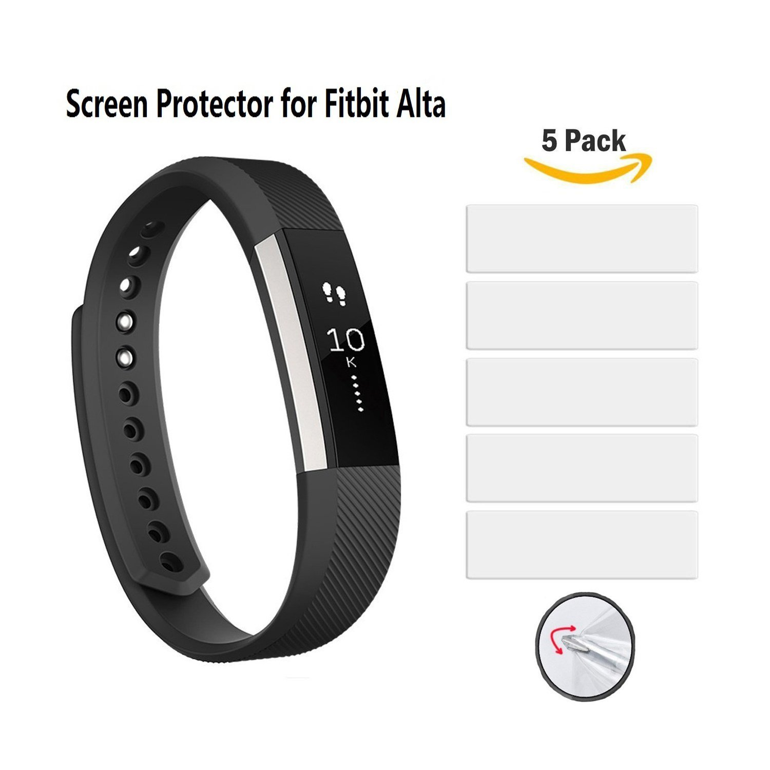 Vancle Ultra Clear Screen Protector for Fitbit Alta (5-Pack)