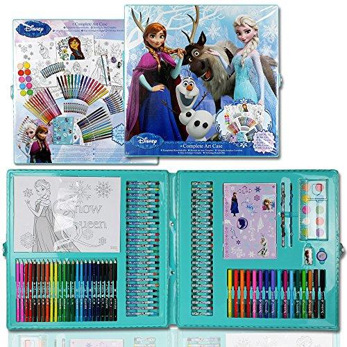 200tlg. Malkoffer Frozen - Malset Disney - Kinder Malset - Kinder Malkoffer - Malkoffer Disney - Kinder Stifteset
