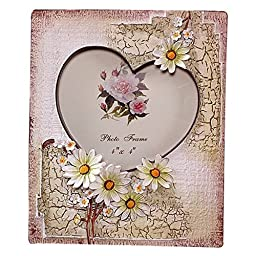 Gift Garden 4-by-4-Inch Heart Shaped Picture Frame
