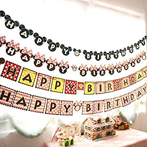 Kids Birthday Party Supplies Decoration, Mickey Mouse Inspired Happy Birthday Banner Blue from Alemon