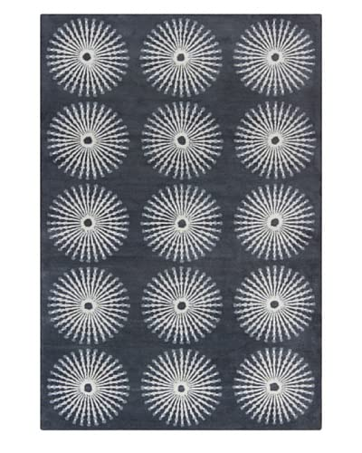Filament Pearly Hand-Tufted Wool Rug, Grey, 5′ x 7′ 6″