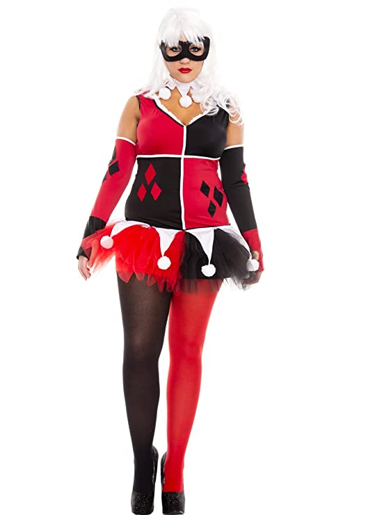 Harley Quinn cosplay Jester dress