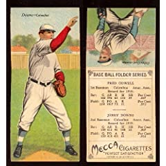 Buy 1911 T201 Mecca Double Folders (Baseball) Card# 24 Jerry Downs Fred Odwell ExMt Condition by T201 Mecca
