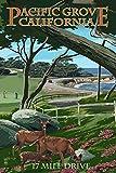 Pacific Grove, California - 17 Mile Drive (12x18 Art Print, Wall Decor Travel Poster)