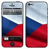 """atFoliX Designfolie """"Tschechien Flagge"""" f�r Apple iPhone 5 - ohne Displayschutzfolievon """"Designfolien@FoliX"""""""