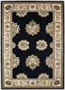 United Weavers Contours Area Rug 510-23676 Zara Onyx Petals Leaves 2' 7