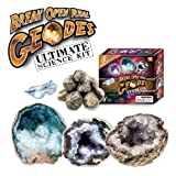 Break Open Real Geodes - Ultimate Science Kit - Set of 15 Real Geodes!by Discover with Dr. Cool