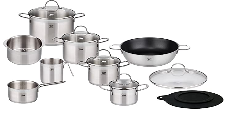 ELO 14-Piece Collection 18/10 Stainless Steel Kitchen Induction Cookware Pots And Pans Set