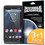 Droid Turbo Screen Protector - Invisible Defender [3+1 Free/MAX HD CLARITY] Lifetime Warranty Perfect Touch Precision High Definition (HD) Clarity Film (4-Pack) for Motorola Droid Turbo