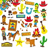 Cowboy Foam Stickers (Pack of 120)