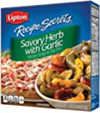 Lipton Recipe Secrets Recipe Soup & Dip Mix, Savory Herb with Garlic, 2 envelopes 2.4 oz, (Pack of 6)