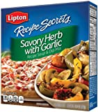 Lipton Recipe Secrets, Savory Herb with Garlic, 2-Count 2.4-Ounce Boxes (Pack of 6)