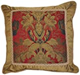 Austin Horn Classics Verona 20-Inch Fancy Square Pillow Red