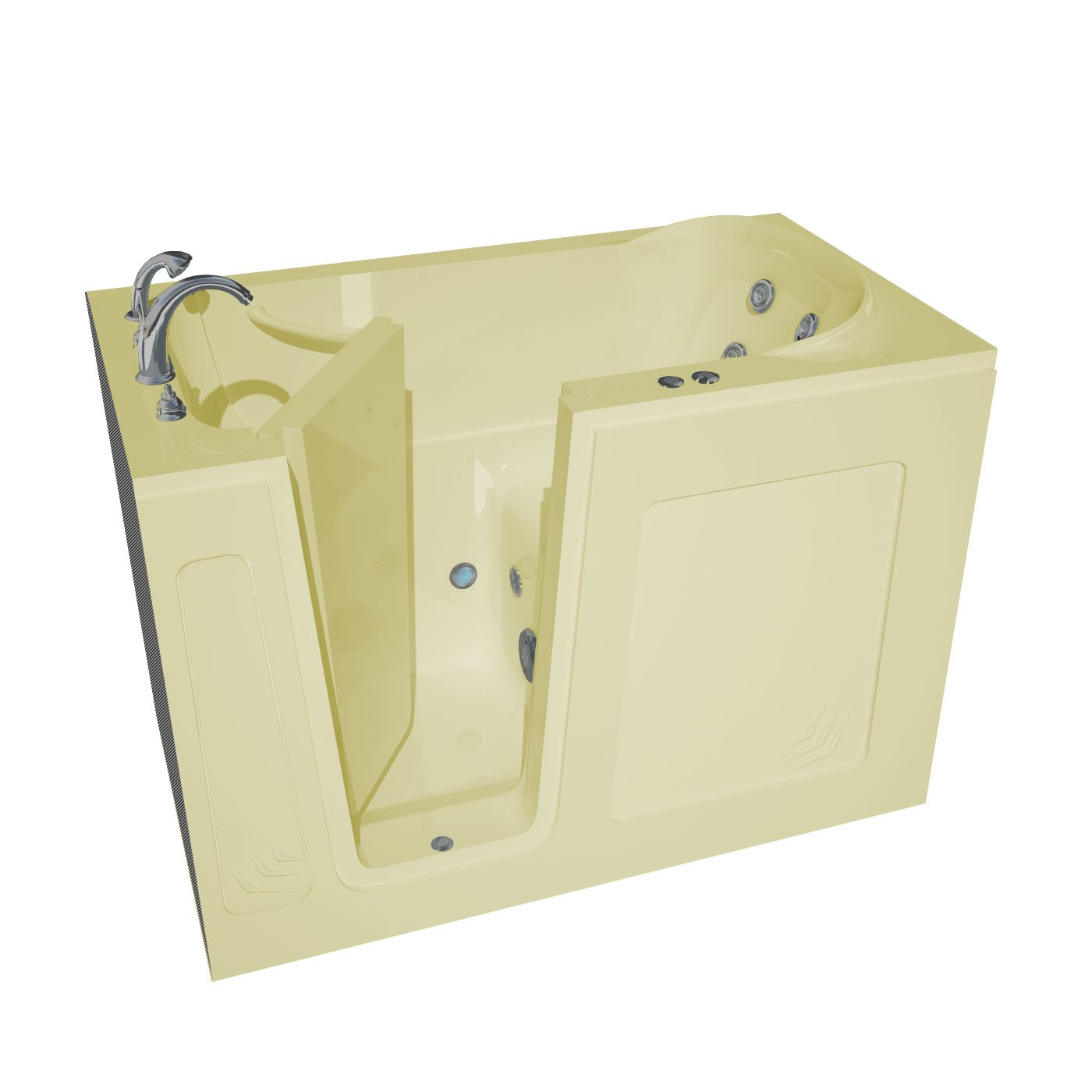 Купить со скидкой Walk-In 30 x 54 Left Drain Biscuit Whirlpool Jetted Walk-In Bathtub