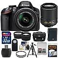 Nikon D3200 Digital SLR Camera & 18-55mm VR & 55-200mm VR…