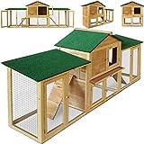 Hasenbedarf ᐅ Stall ᐅ Hasenstall mit Dach aus Asphaltmatten von