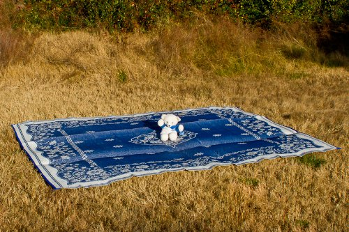 Camco 42851 Reversible Outdoor Mat 9 X 12 Blue