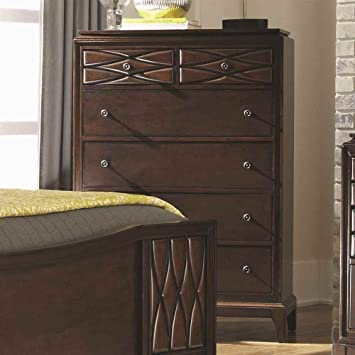 5-Drawer Chest in Rich Brown Finish