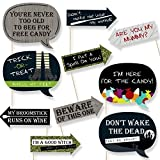 Funny Trick or Treat - Halloween Party - Photo Booth Props Kit - 10 Count