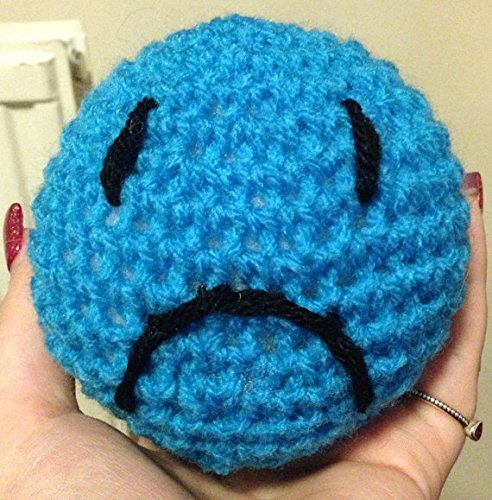 Stress Ball/Toy/Relief Hand Crochet Stuffed Smiley Face Sad Face Desk Ball