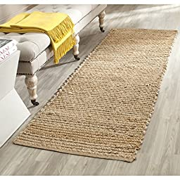 Safavieh Cape Cod Collection CAP355A Hand Woven Natural Jute Runner, 2 feet 3 inches by 6 feet (2\'3\