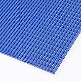 AkwadekTM Anti-Slip Hygienic Matting for Changing Rooms and Swimming Pools, 60 cm wide (Blue, 90 cm)