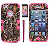 XYUN 3-pieces Straw Grass Mossy Camo Hybrid Hard Silicone Cover Case for Iphone 5c with Free Screen Protector and Stylus (Rose) Reviews