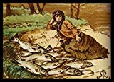 The Museum Outlet - Mary Millais with a huge catch of salmon by the Tay by her father, 1891 - Canvas (Medium)