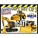 Daron CAT (Caterpillar) Metal Machines Bulldozer, Wheel Loader & Excavator Vehicles Trucks Deluxe Gi