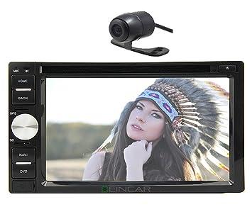 Navigation GPS 2DIN lecteur DVD stéréo de voiture ipod Radio Bluetooth + Caméra